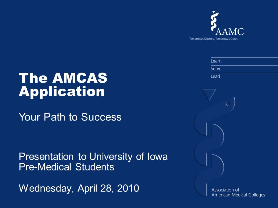 What is AMCAS' role in the medical school admissions process.