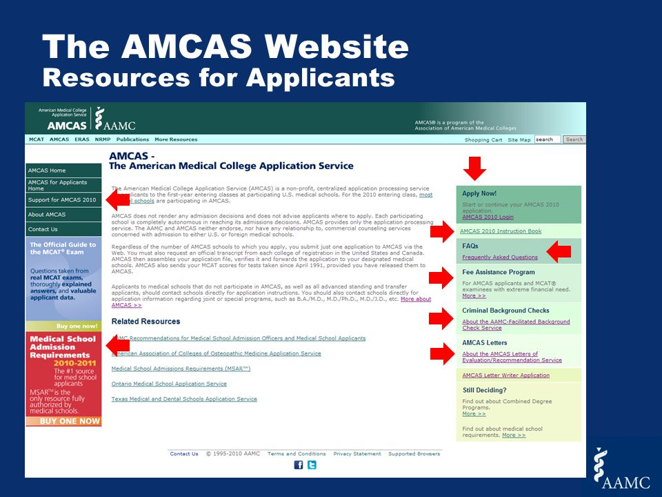 The AMCAS Application Adding Letters in the Application If you have already submitted your application, you MUST hit submit again in order to save the letter you just added