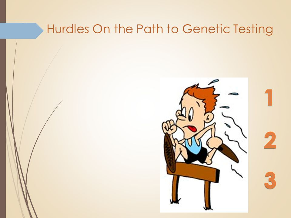 Hurdles On the Path to Genetic Testing Insurance Coverage Interpretation of Results Provider Who Can Put it All Together
