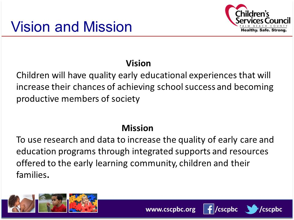Goals Children are ready for school To improve children's learning and development To improve teacher-child interactions To improve parent engagement