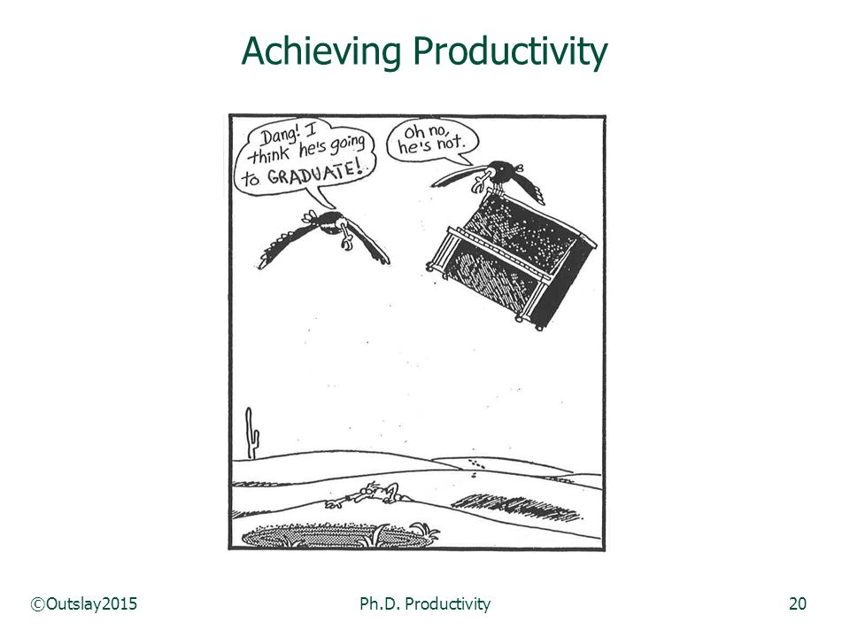 ©Outslay2015Ph.D. Productivity20 Achieving Productivity