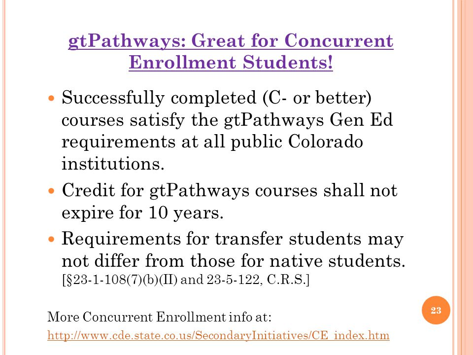 gtPathways: Great for Concurrent Enrollment Students.