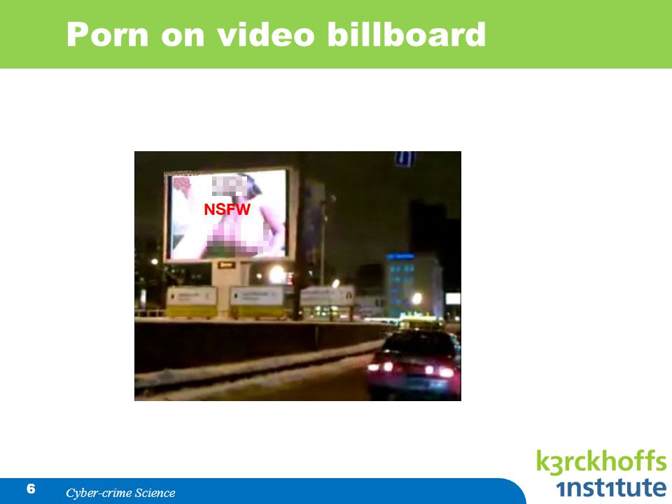 Porn on video billboard Cyber-crime Science 6