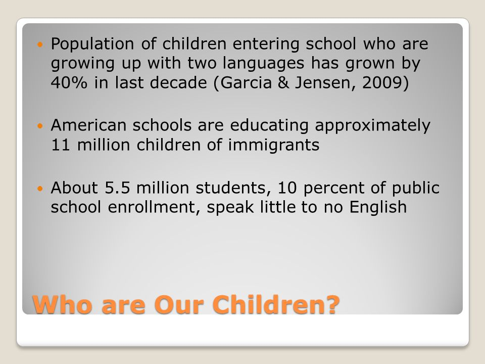 Who Are Our Children.