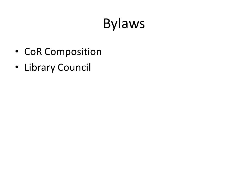 Bylaws CoR Composition Library Council