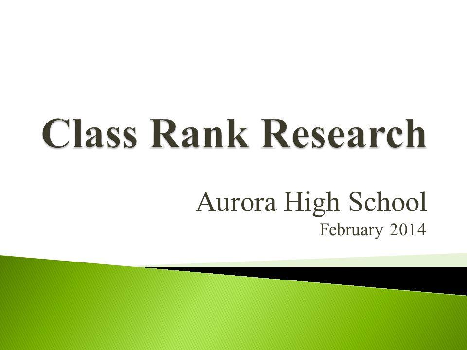 Aurora High School February 2014