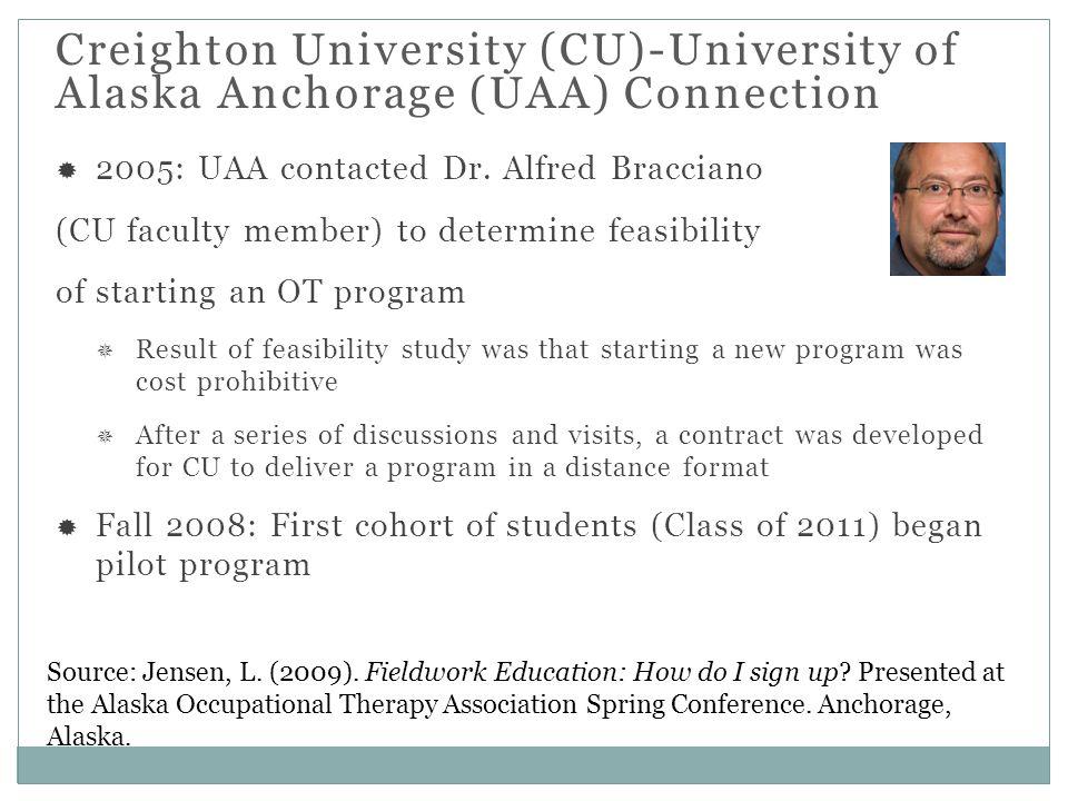 Creighton University (CU)-University of Alaska Anchorage (UAA) Connection Source: Jensen, L.