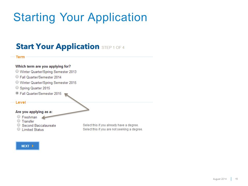 15 Starting Your Application August 2014