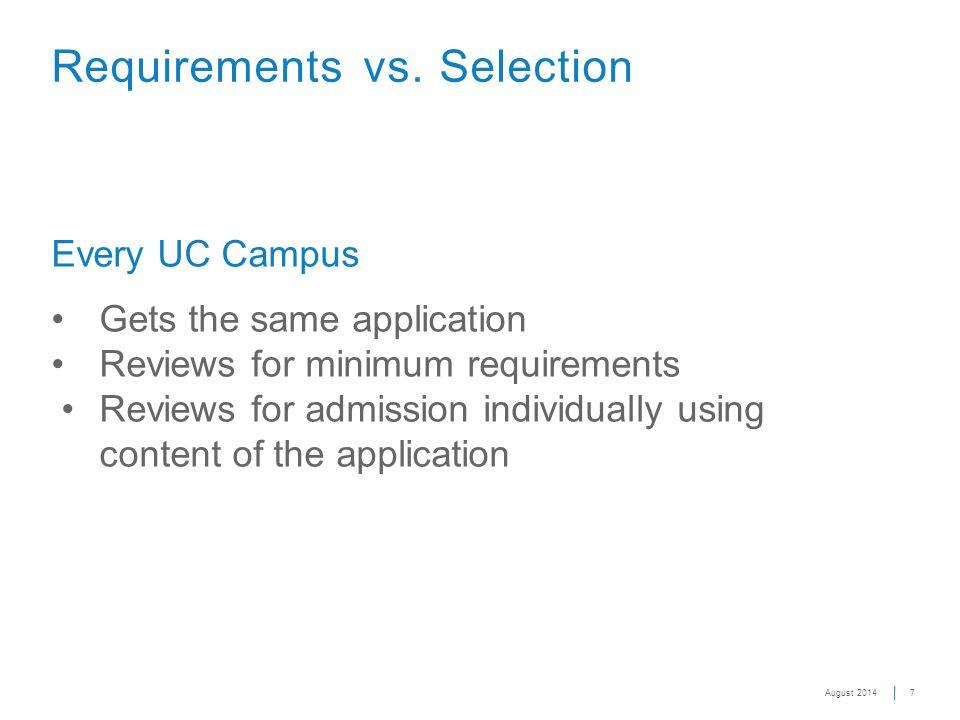 7 Requirements vs.