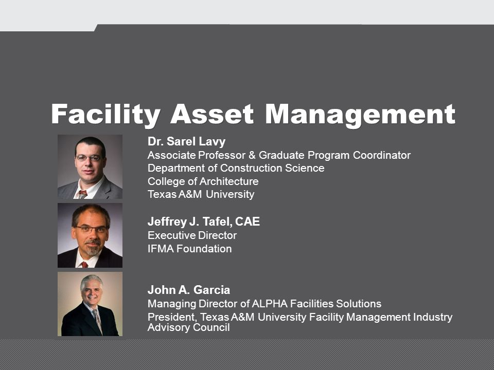 Facility Asset Management Dr.