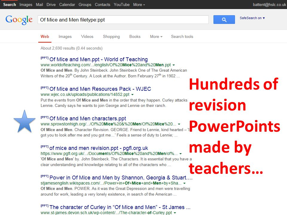 Hundreds of revision PowerPoints made by teachers…