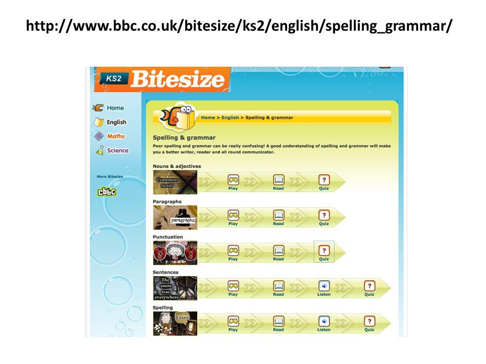 http://www.bbc.co.uk/bitesize/ks2/english/spelling_grammar/