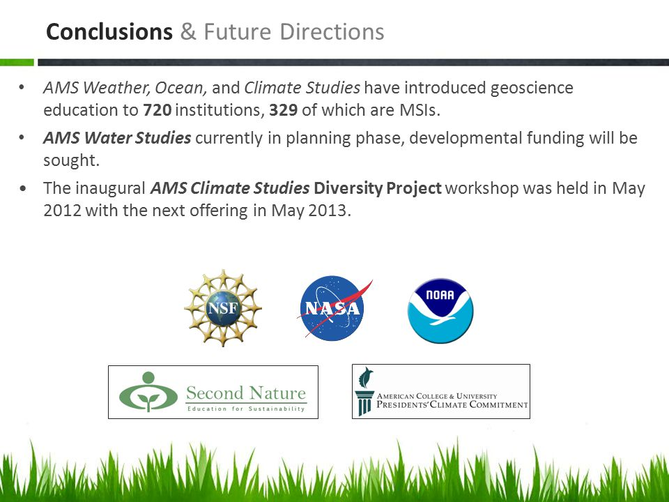 AMS Weather, Ocean, and Climate Studies have introduced geoscience education to 720 institutions, 329 of which are MSIs.
