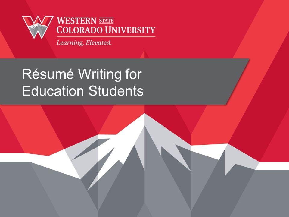 Résumé Writing for Education Students