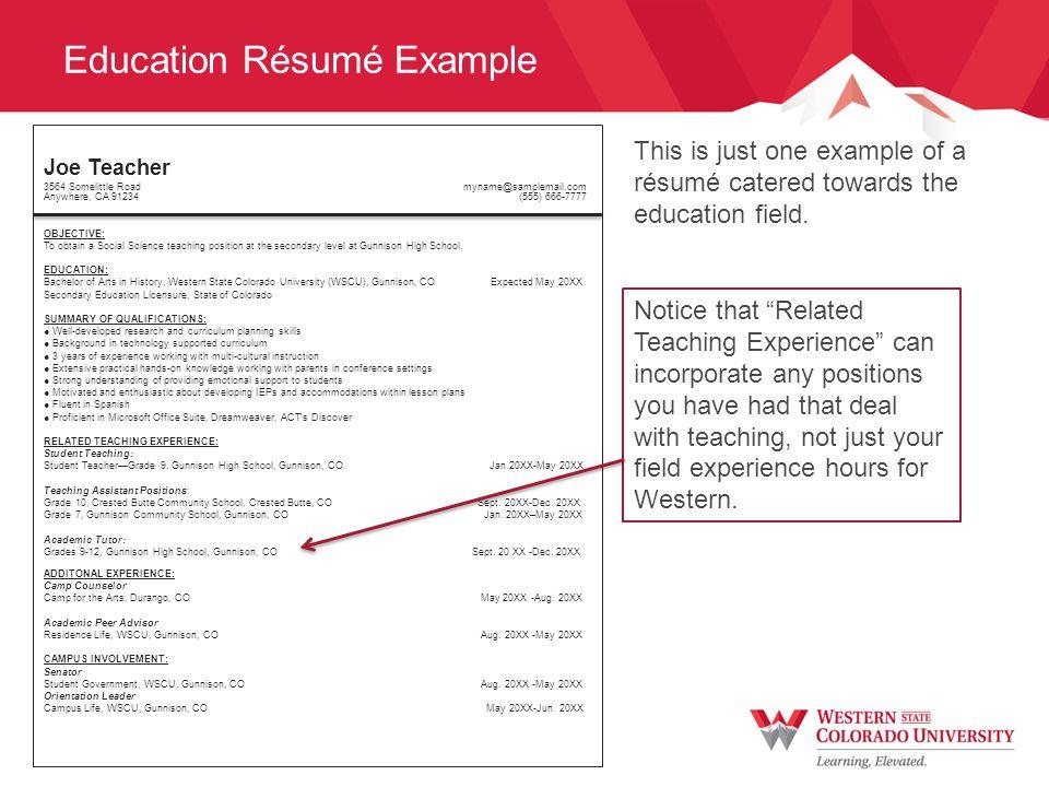 Résumé Content Cater your résumé to the position you are seeking.