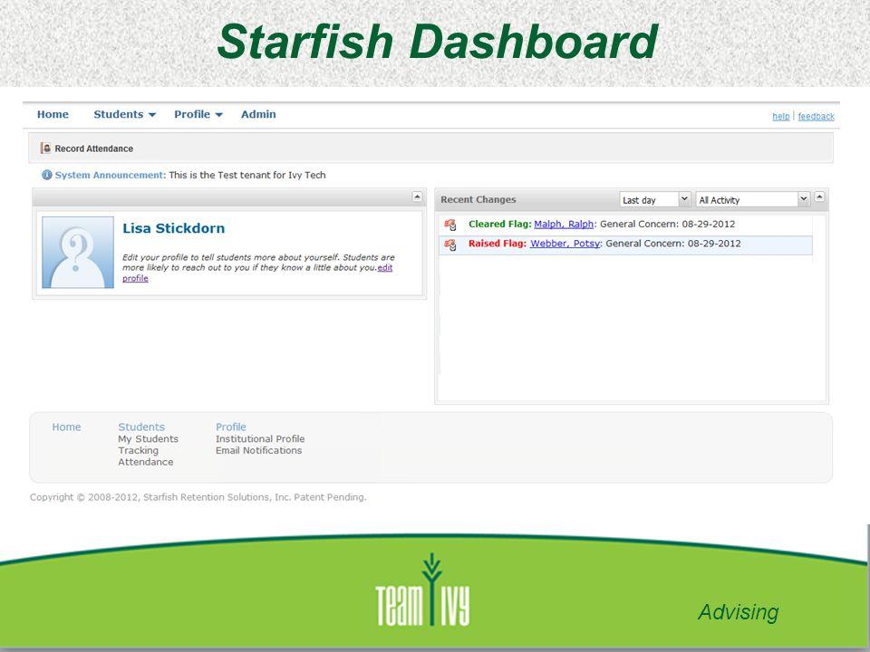 Starfish Dashboard Advising