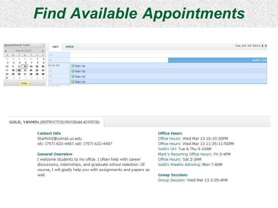 Find Available Appointments