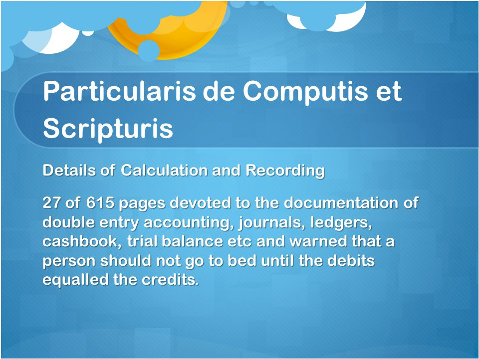 No other major publication of note in Accounting for 50 years