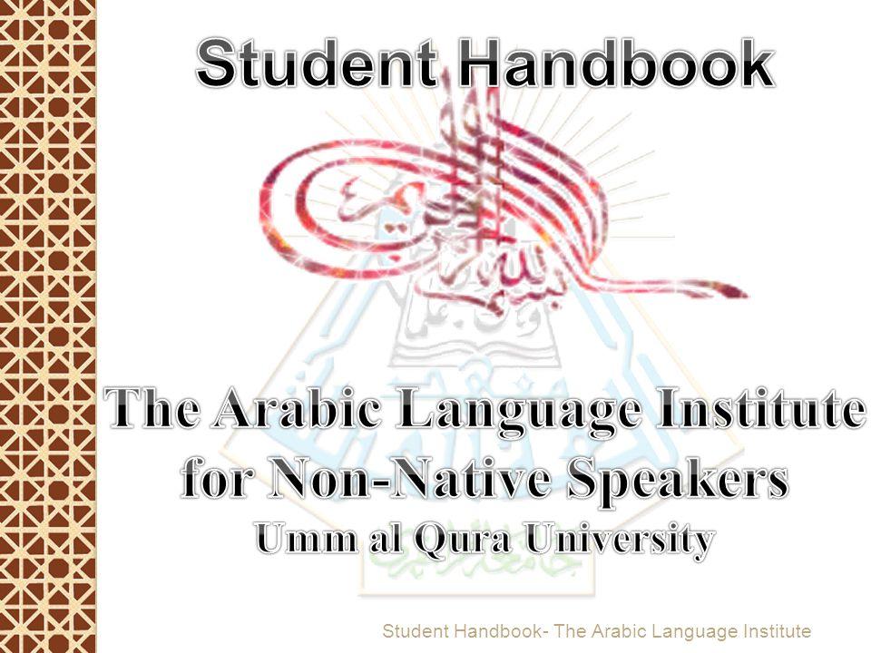 Student Handbook- The Arabic Language Institute