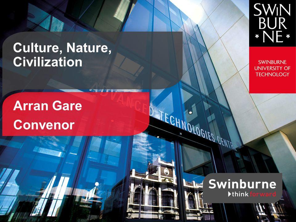 Arran Gare Convenor Culture, Nature, Civilization