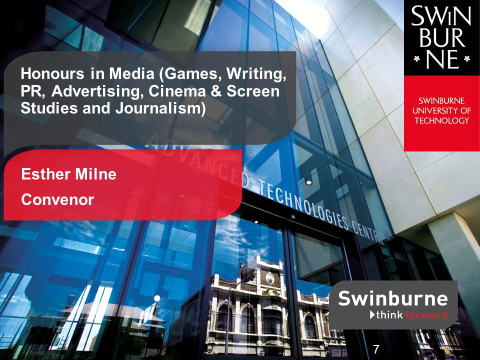 Swinburne SCIENCE | TECHNOLOGY | INNOVATION | BUSINESS | DESIGN Interested.