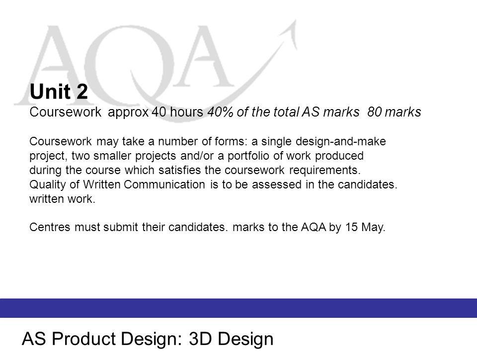 AS Product Design: 3D Design Unit 3 Written Paper.
