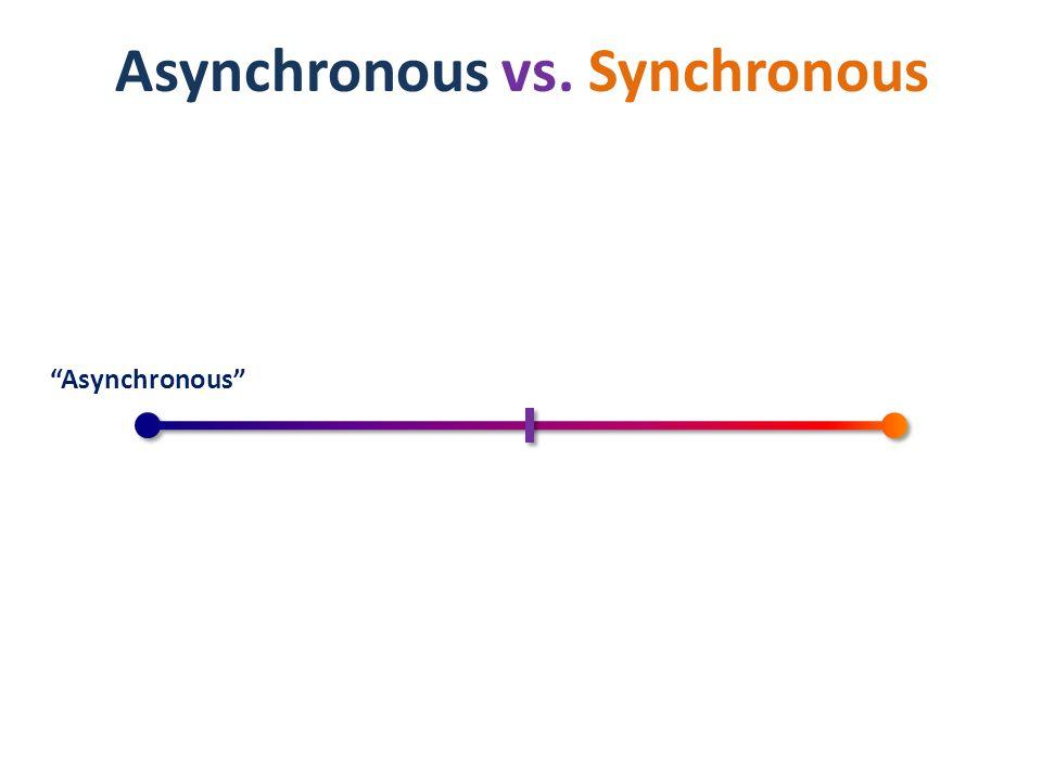 Asynchronous Asynchronous vs. Synchronous