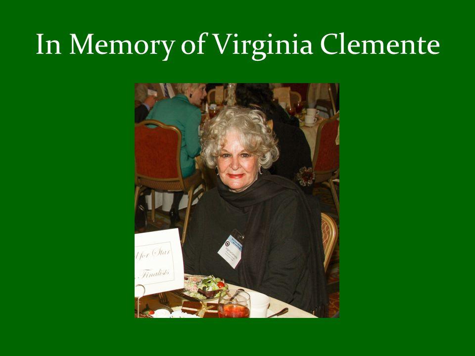 In Memory of Virginia Clemente