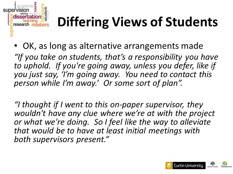 "Differing Views of Students OK, as long as alternative arrangements made ""If you take on students, that's a responsibility you have to uphold. If you'"