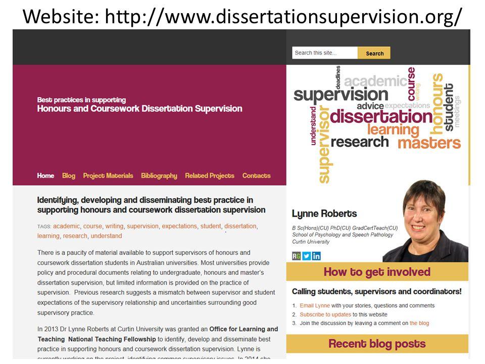 Website: http://www.dissertationsupervision.org/