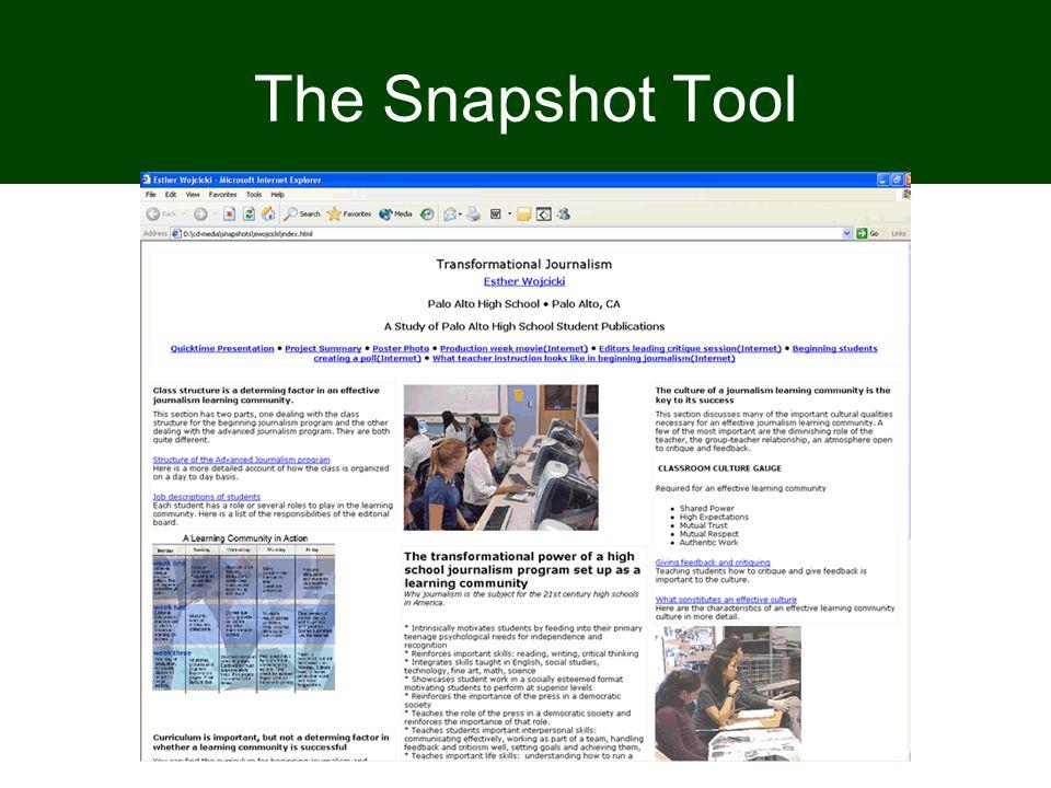 The Snapshot Tool