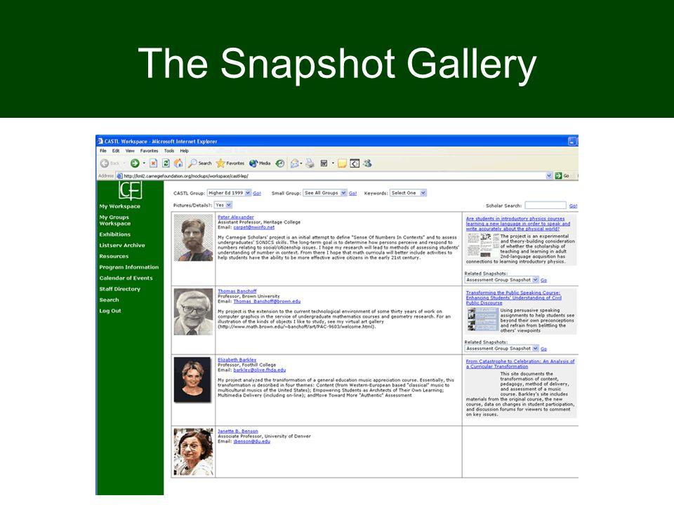 The Snapshot Gallery