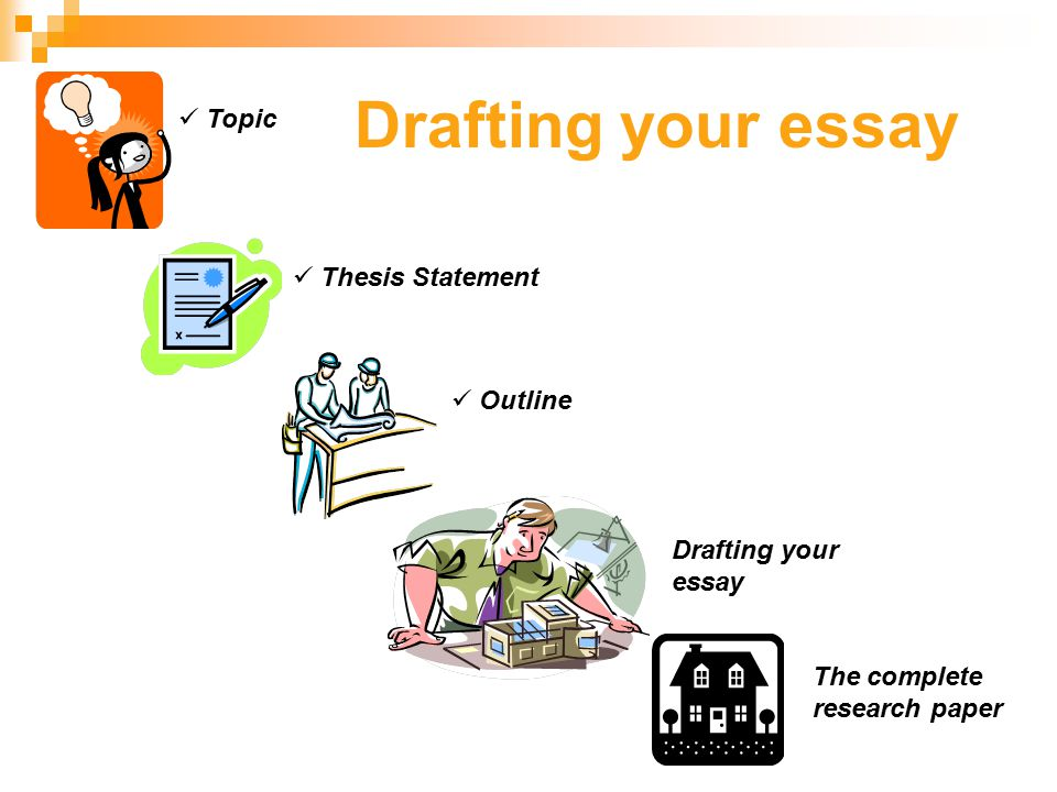 What are the building blocks of the essay (10% of your coursework).