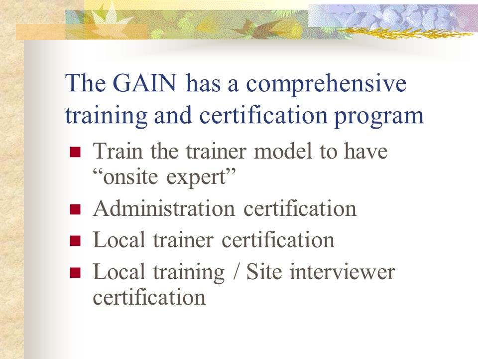 Goals of this presentation 1.