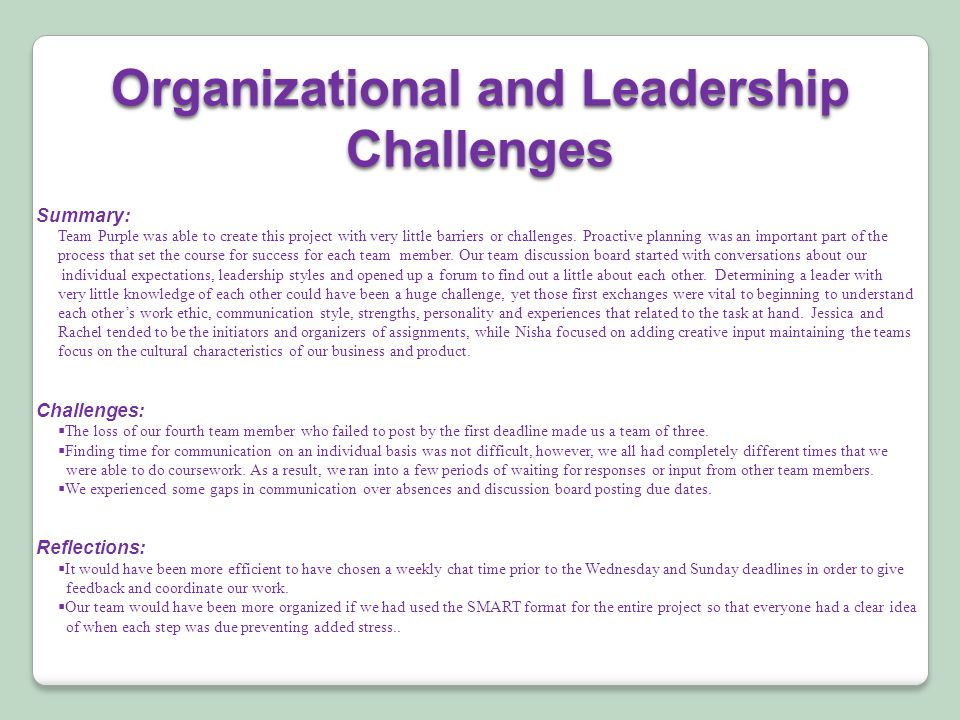 Summary: Team Purple was able to create this project with very little barriers or challenges.