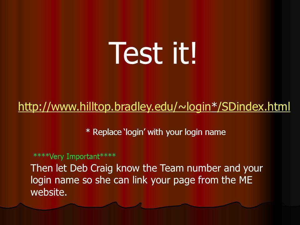 Test it.