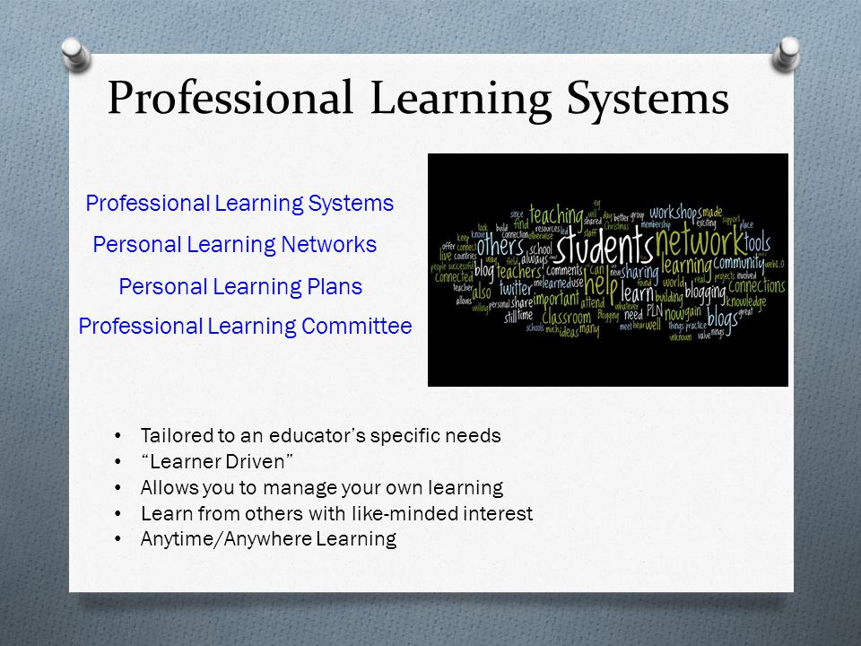 Professional Learning Systems Personal Learning Networks Professional Learning Systems Personal Learning Plans Professional Learning Committee Tailore