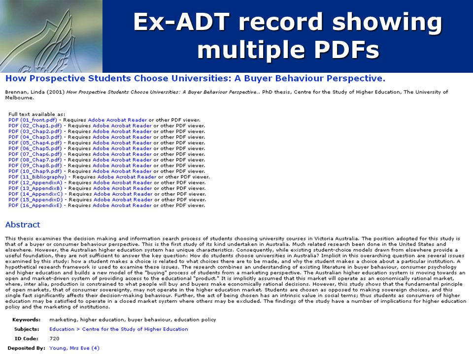 26 Ex-ADT record showing multiple PDFs