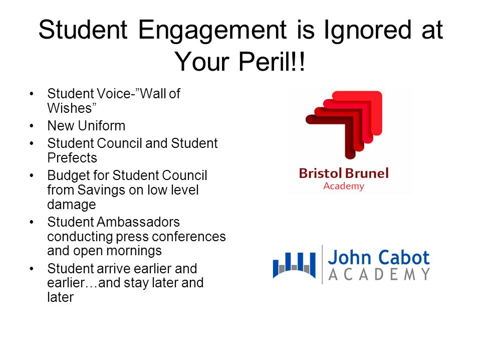 Student Engagement is Ignored at Your Peril!.