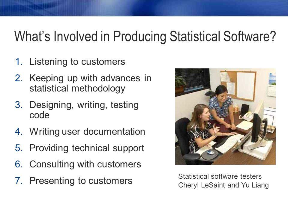 Where Do Statisticians Contribute at SAS.