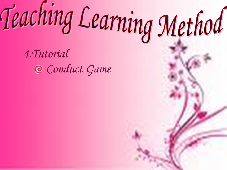 4.Tutorial Conduct Game