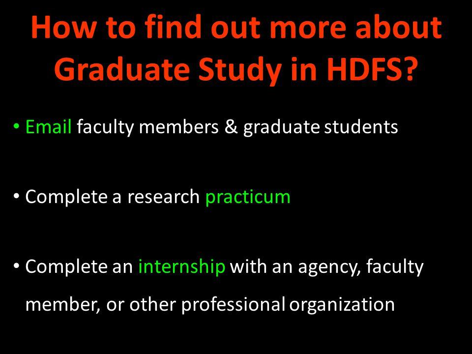 HDFS Graduate Programs Masters Degree Programs Doctoral Degree Programs