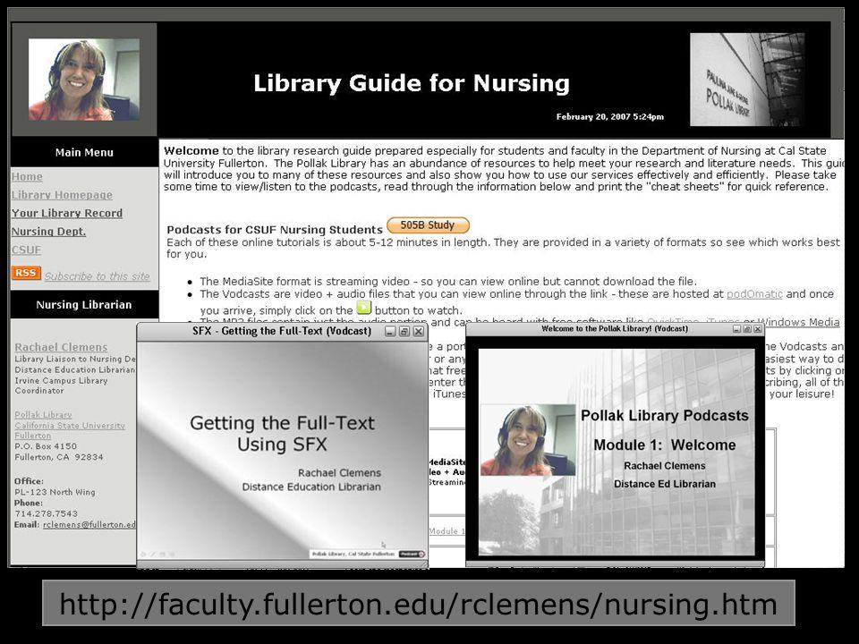 http://faculty.fullerton.edu/rclemens/nursing.htm