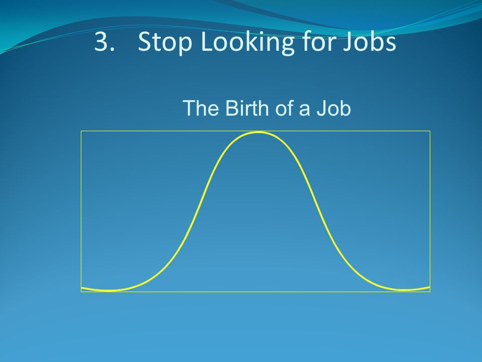 3.Stop Looking for Jobs The Birth of a Job