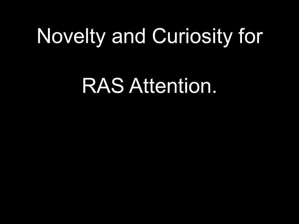 Novelty and Curiosity for RAS Attention.