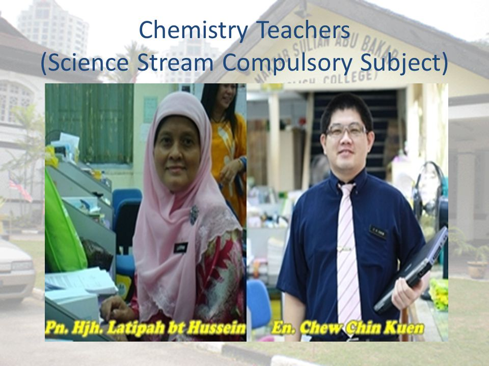 Chemistry Teachers (Science Stream Compulsory Subject)