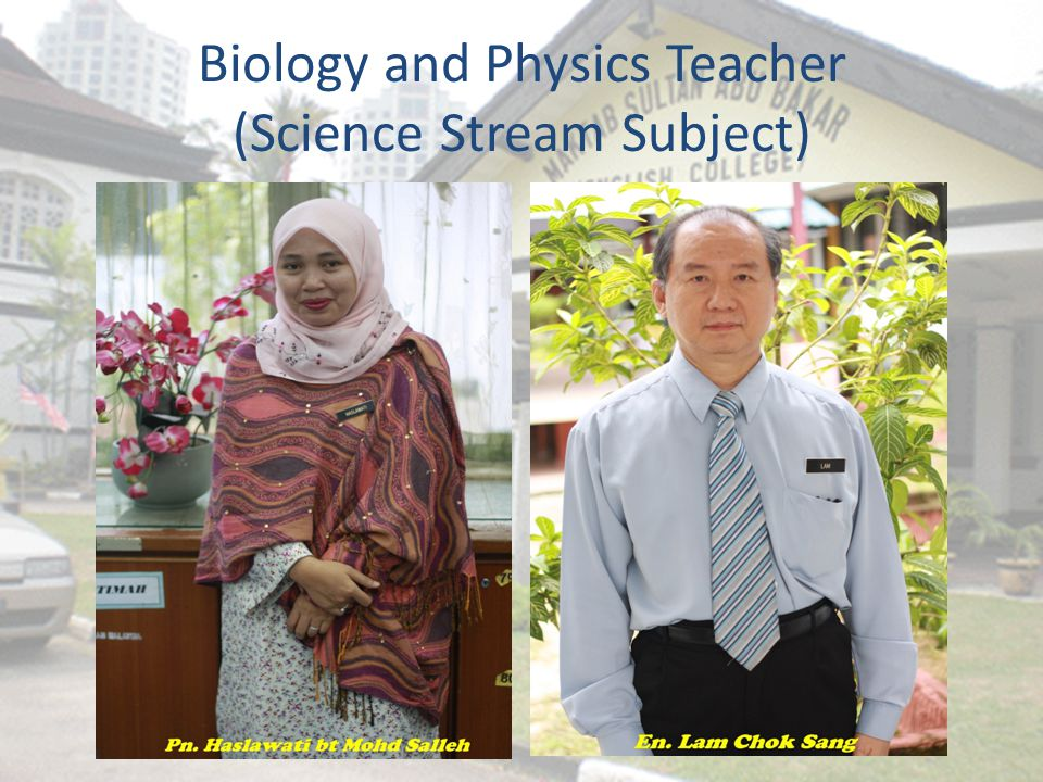 Biology and Physics Teacher (Science Stream Subject)