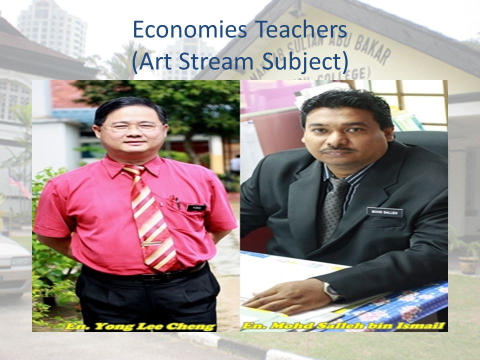 Economies Teachers (Art Stream Subject)