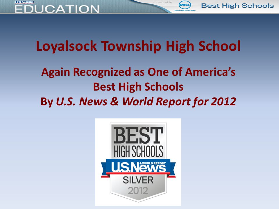 Loyalsock Township High School Again Recognized as One of America's Best High Schools By U.S.