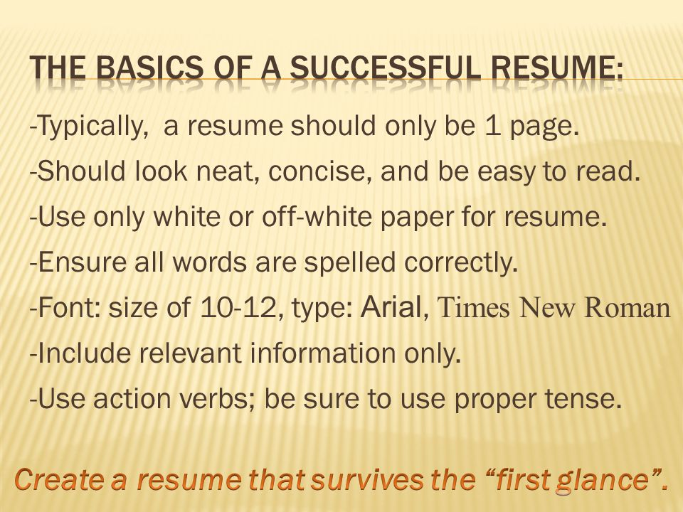 You can determine if you have a successful resume by asking yourself: Am I getting calls for interviews.